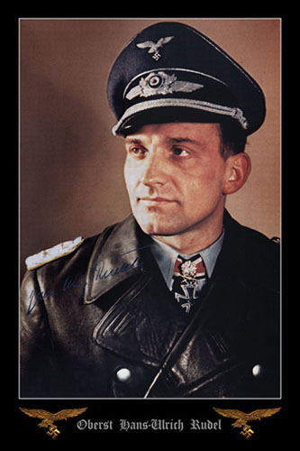 Aircrew-Luftwaffe-legend-Hans-Ulrich-Rudel-color-portrait-photo-04