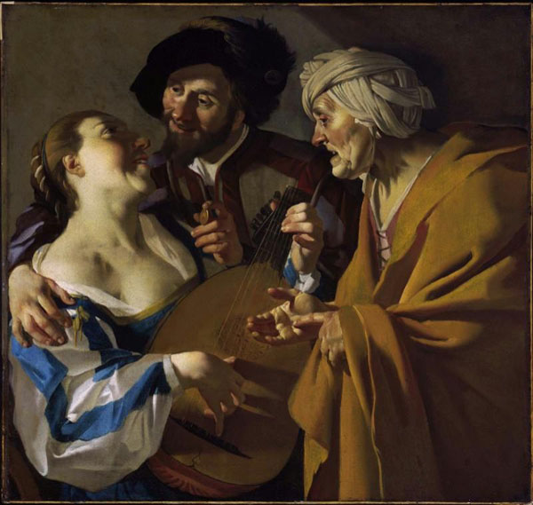 Dirck van Baburen,  The Procuress